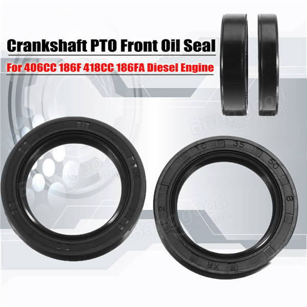 2pcs Crankshaft PTO Front Oil Seal for 406CC 186F 418CC 186FA Diesel Engine