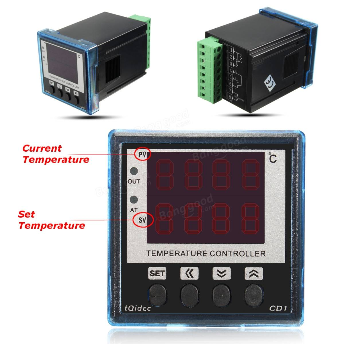 Digital LCD Temp Temperature Controller Switch Cooling Heating  #B11A1B