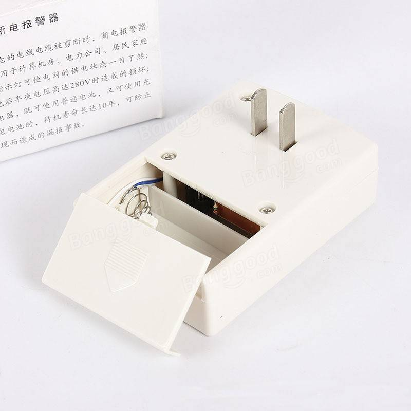 Wireless Power Off Detector AC 220V 380V Power Failure Outage Short Circuit Alarm Testing Sensor Home Substation Alarm