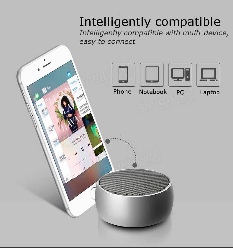 Mini Bass Bluetooth Speaker With Mic Portable Wireless Stereo Subwoofer Loudspeaker Metal Sound Box