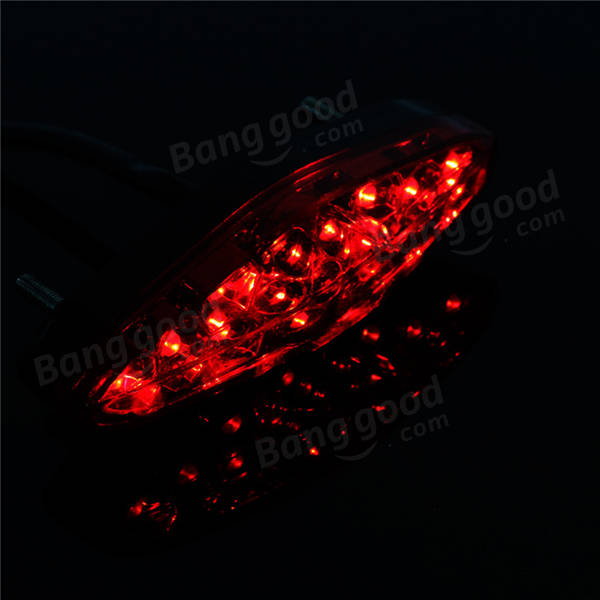 12V Motorcycle Retro Brake Light Plate Taillights For Harley Cruise Prince