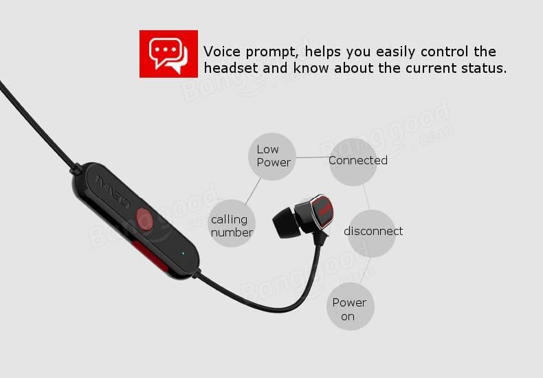 GENAI Sport3 Wireless Bluetooth V4.1 Universal In-ear Stereo Earphone