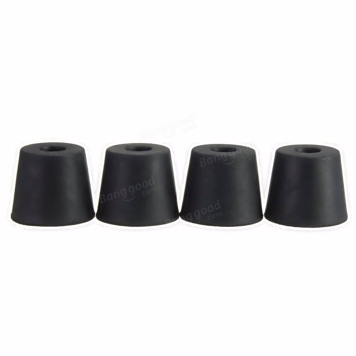 4Pcs Black 20×15×17mm Chair Table Leg Recessed Rubber Feet Pads Rubber Protector