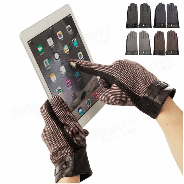 Men Dot Touch Screen Gloves For iPhone 6S Plus 6S Samsung Smartphone