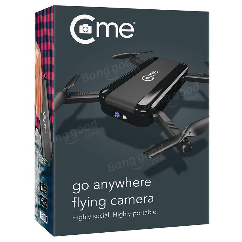 C-me Cme WiFi FPV Selfie Drone With 1080P HD Camera GPS Altitude Hold Mode Foldable RC Quadcopter