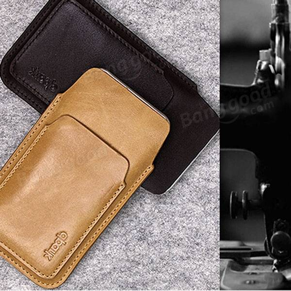 Original D-park Kangaroo Multi-function Cellphone Leather Pouch Case For 5.5 inch or less Cellphone