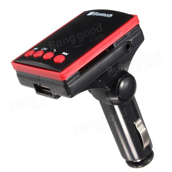 Bluetooth LCD Wireless Car FM Transmitter MP3 Player SD TF AUX USB Charger