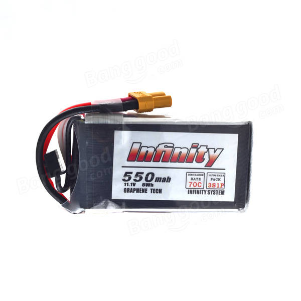 Infinity 550mAh 70C 11.1V 3S1P Lipo Battery with XT30 Plug for RC Drone FPV Racing 53g