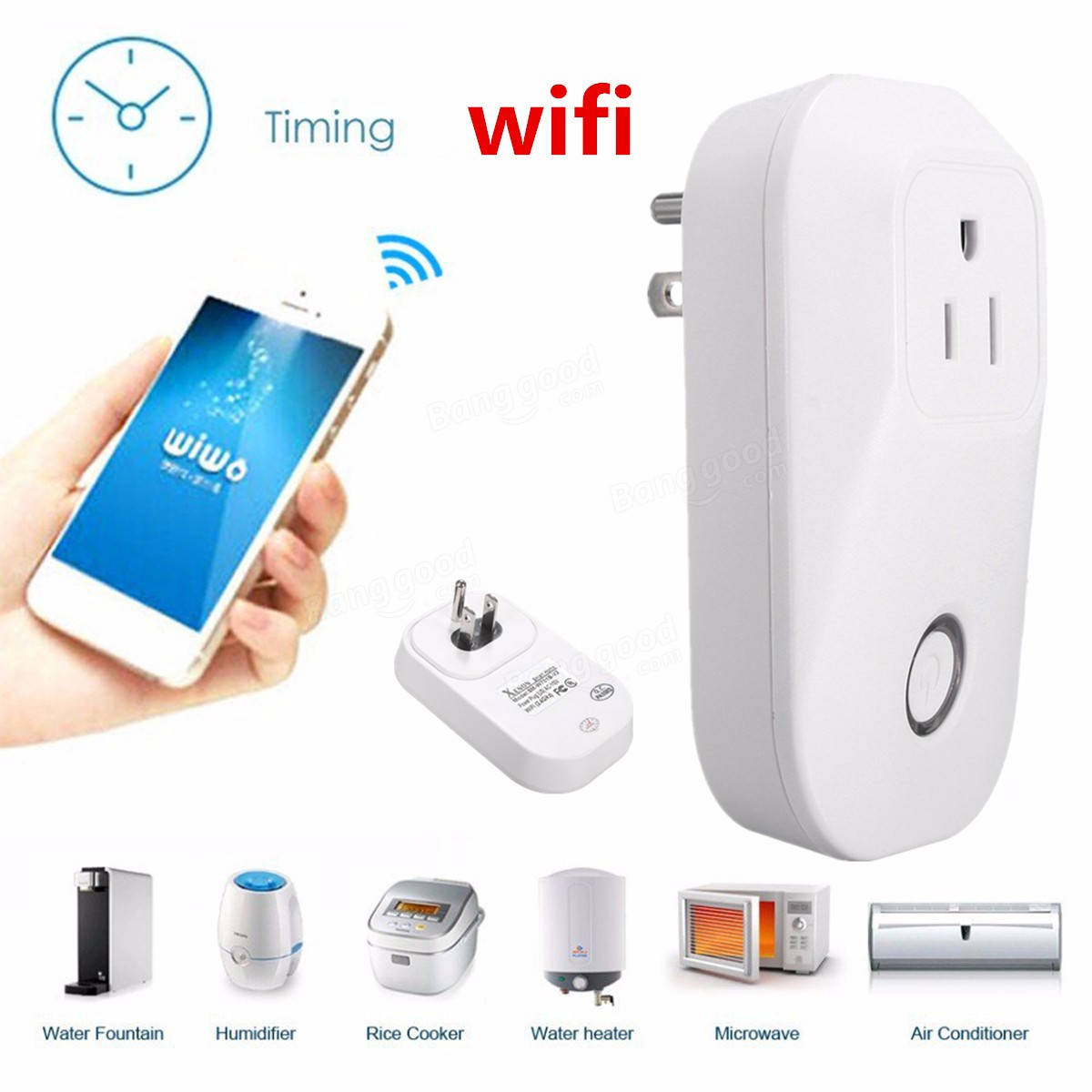 ELE Wifi Smart Plug Wireless Wifi Intelligent Socket Power Outlet WIFI Remote Control WiFi Socket