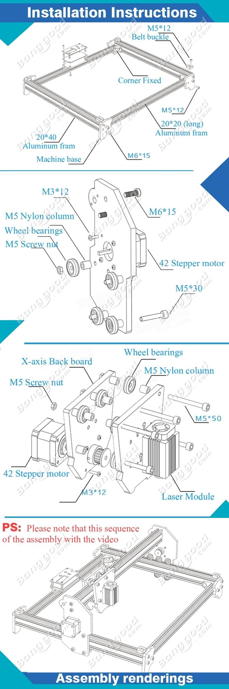 Eleksmaker Elekslaser A3 Pro 5500mw Laser Engraving