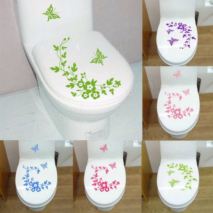 toilet seat cover sticker
