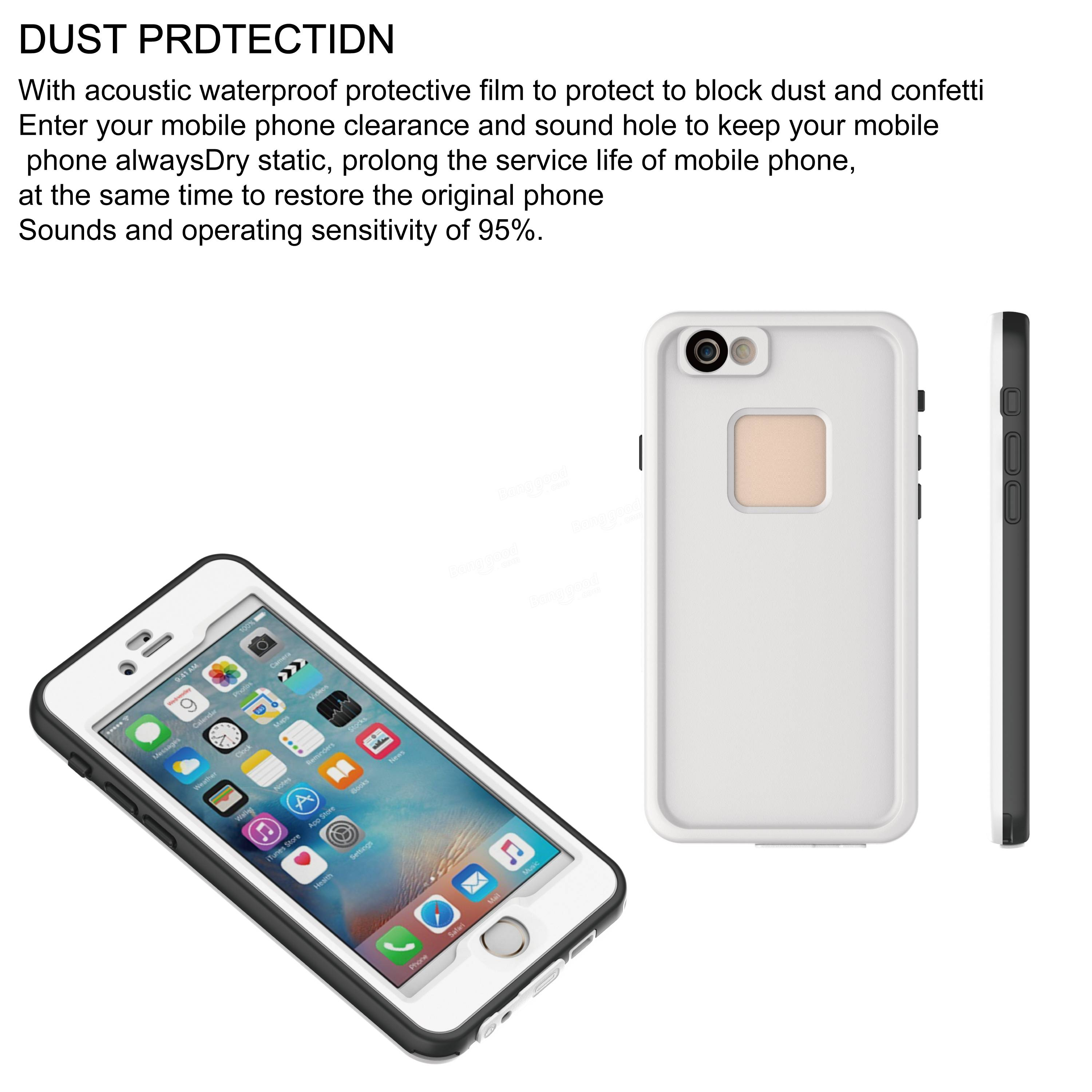 IPX8 Waterproof Touch Screen Drop Resistance Diving 6M Shockproof Case  For iPhone 6 Plus 6S Plus