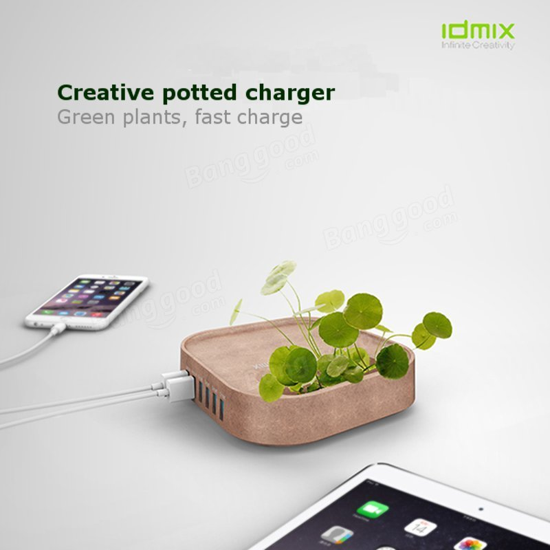 IDMIX Creative Bonsai 8A 6USB 5V Pot Charger For iPhone 6S iPad Tablet Xiaomi Android
