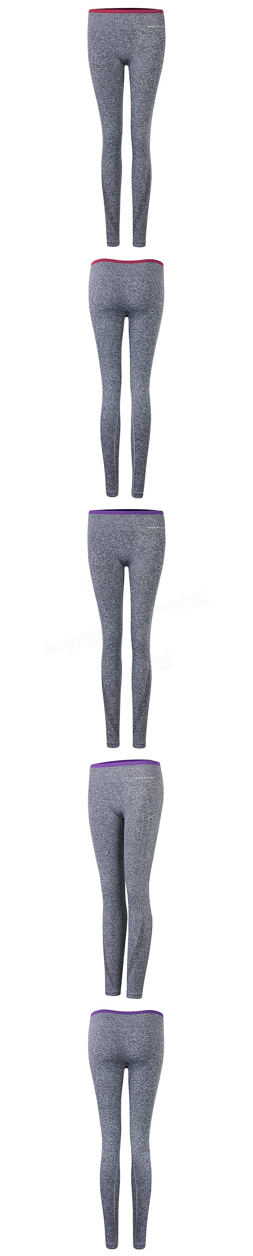 Women Yoga Leggings Sports Elastic Slimming Tights Gym Running Pants Fitness Trousers