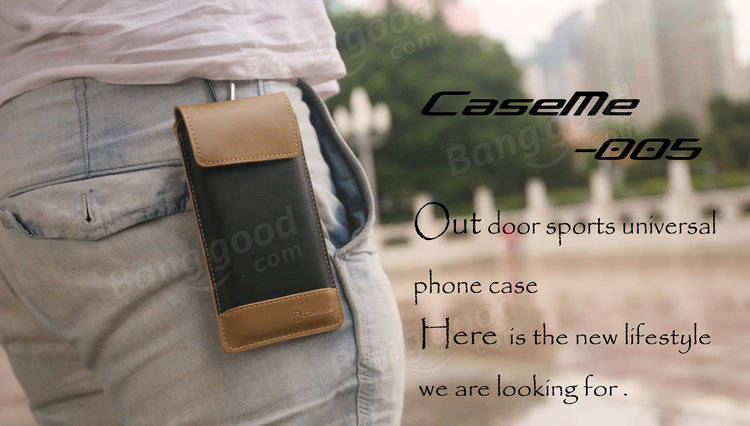 CaseMe Wallet Case Retro PU Leather Camping Bag With Carabiner Hook For iPhone 6/6s Plus Samsung HTC Sony
