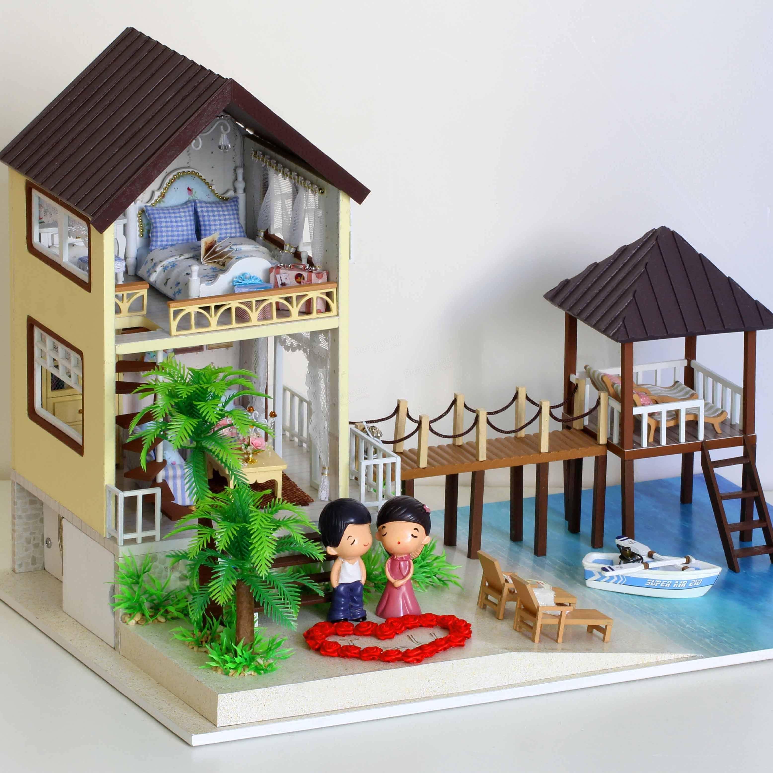 Cuteroom bricolaje maldivas casa de mu ecas de madera - Bricolaje para casa ...