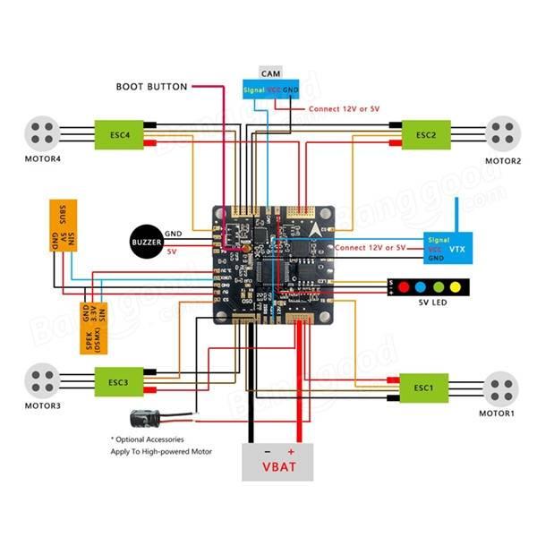 F3 V2 0 Flight Control Board Integrated With Pdb 5v 12v Bec Sale