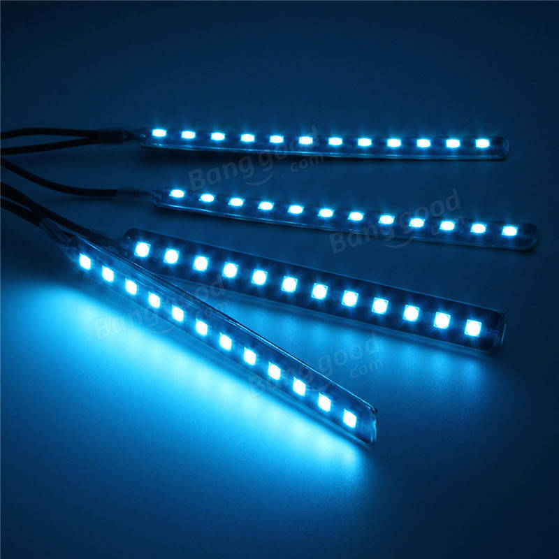 12v led atmostphere light strip car interior decoration strobe lamp modification lighting sale. Black Bedroom Furniture Sets. Home Design Ideas
