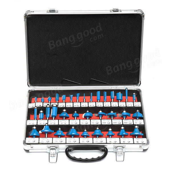 35pcs 1/4 Inch Shank Router Bit Set Woodworking Cutter