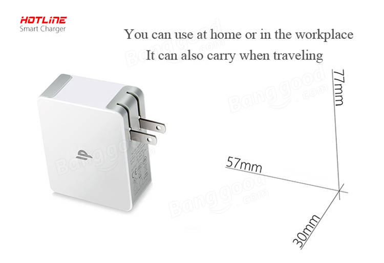 Hotline 4 Port USB Smart 5.0V 2.4A Wall Plug Charger Power Adapter For Samsung iPhone iPod iPad