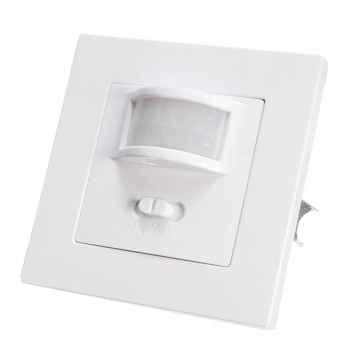140 degree infrared pir motion sensor recessed wall lamp bulb led strip light switch ac220 240v. Black Bedroom Furniture Sets. Home Design Ideas