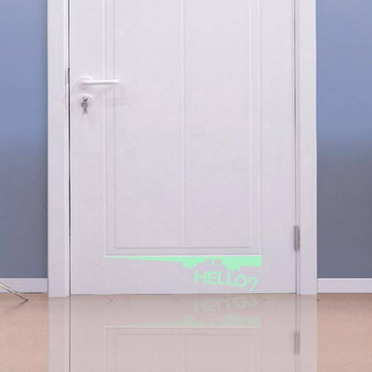 Luminous Toilet Seat Door Wall Sticker Vinyl Decal Bathroom Decor