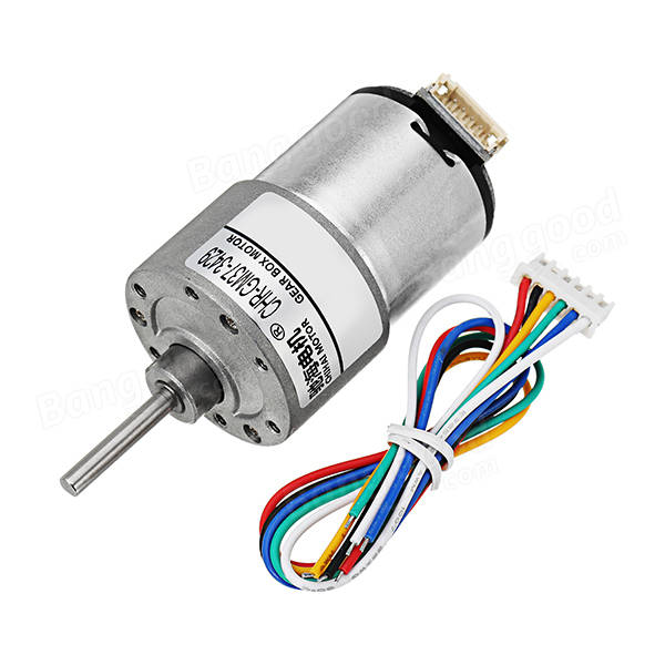 CHIHAI MOTOR DC 12V 200rpm Encoder Motor Hall Encoder Motor AB Two Phases for Robot