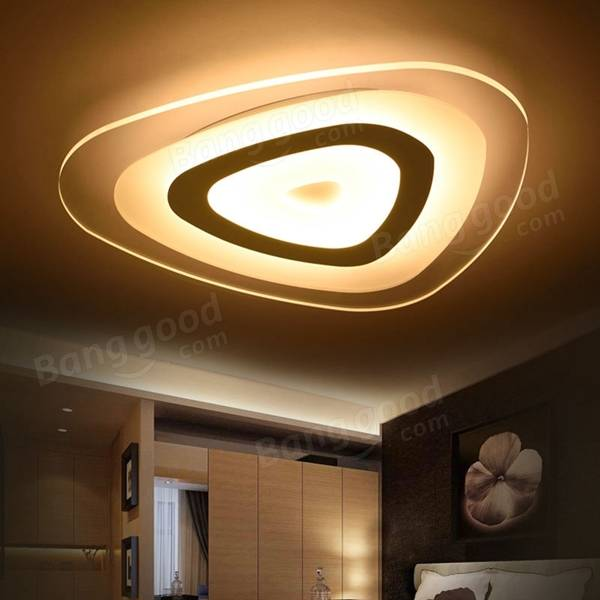 16W Modern Ultrathin LED Flush Mount Ceiling Light 3 Color Adjustable for Living Room Home