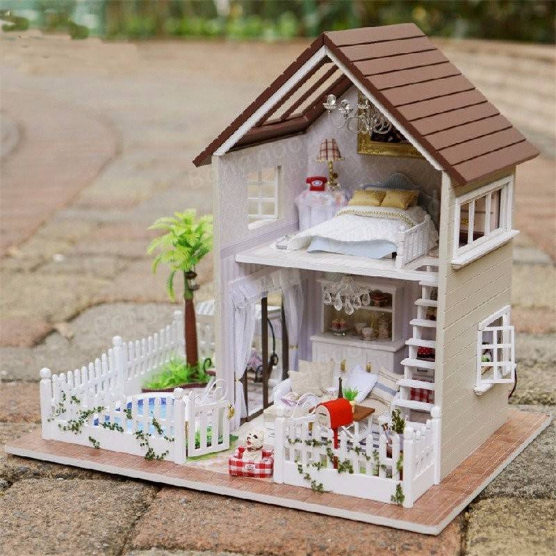 cuteroom 1 24diy miniature voice activated led light music with cover paris apartment dollhouse. Black Bedroom Furniture Sets. Home Design Ideas