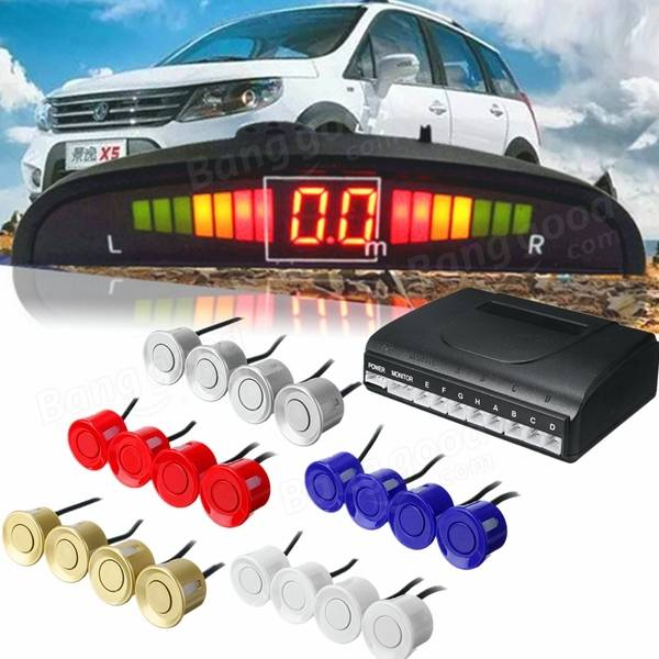 Car Reverse Backup 8 Sensor Parking And LED Display Monitor Buzzer Radar System AU