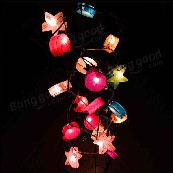 String Of Blinking Lights Paper Moon : 3M 20 LED Paper Moon Star String Lights for Party Christmas Kids Bedroom Decoration Sale ...
