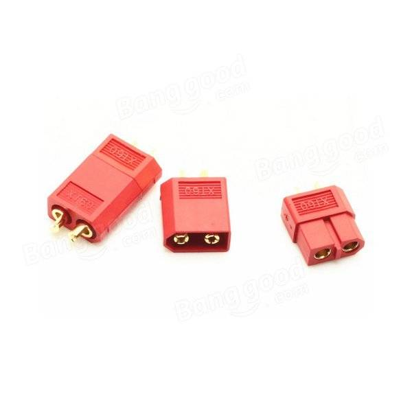 XT60 Red Male Female Bullet Connectors Plugs For RC Battery