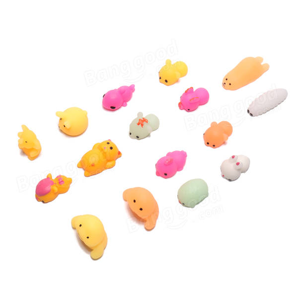 16Pcs Squishy Squeeze Cute Toy Kawaii Collection Stress Reliever Gift Decor