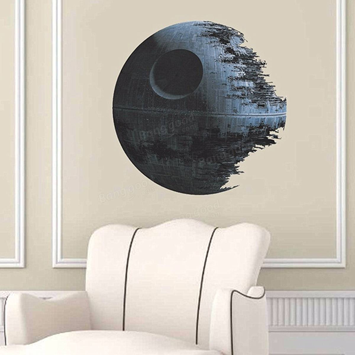 45cm removable death star wars wall stickers art vinyl