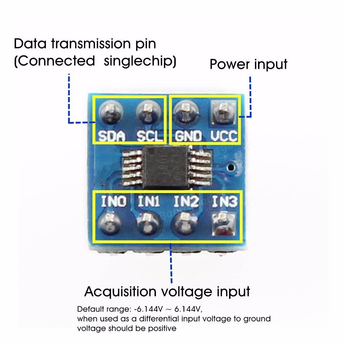 Mini ads module channel bit i c adc pro gain