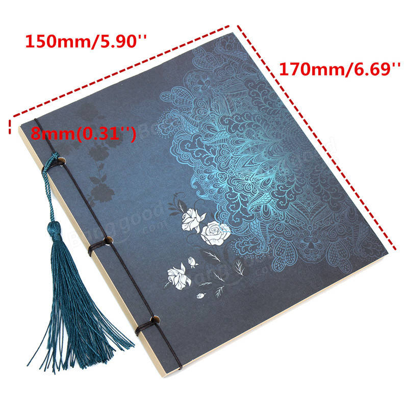 Chinese Vintage Retro Style Blank Kraft Notebook Paper Stationery Thread Bound Diary Notepad