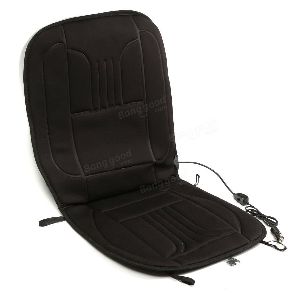 heated back massage chair cushion massager car seat home pad pain lumbar neck 689718203721 ebay. Black Bedroom Furniture Sets. Home Design Ideas