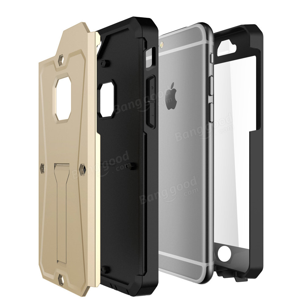 Triple Layer PC Stand Holder Screen Protector Combo Heavy Tank 4.7 Inch Case For Apple iPhone 6 6s