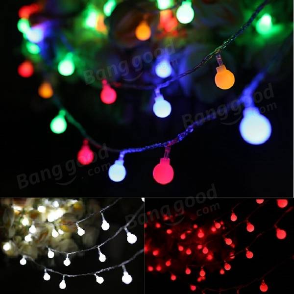 Outdoor String Lights With Remote : 5M 50LED Remote Battery Globe Outdoor String Light for Christmas Wedding Party Holiday Decor ...