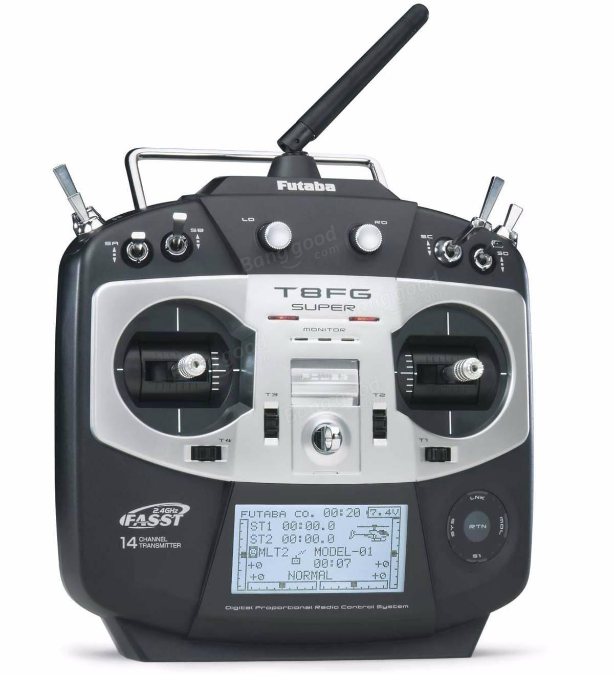 Futaba T8FG Siêu 2.4G 14CH FASST Transmitter Với SBUS 8CH R6208SB Receiver