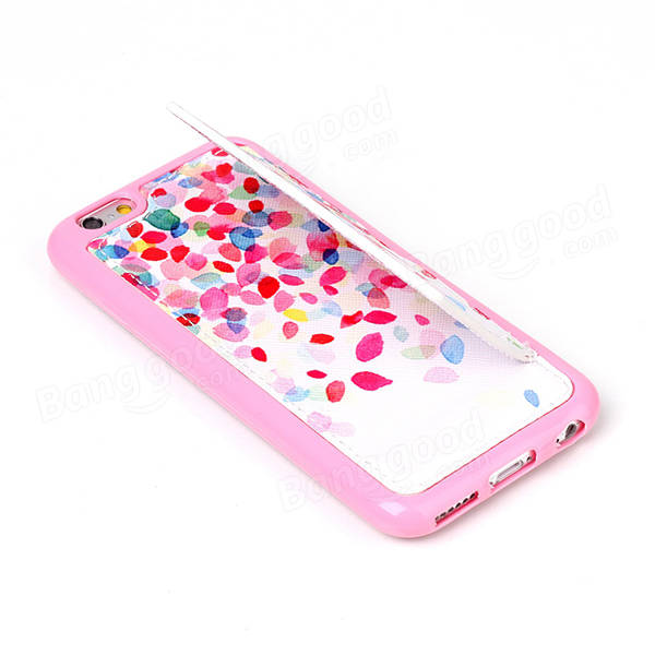 Fashion Pattern Colorful Petals Creative Back Holder Protector Case For iPhone 6 6s Plus