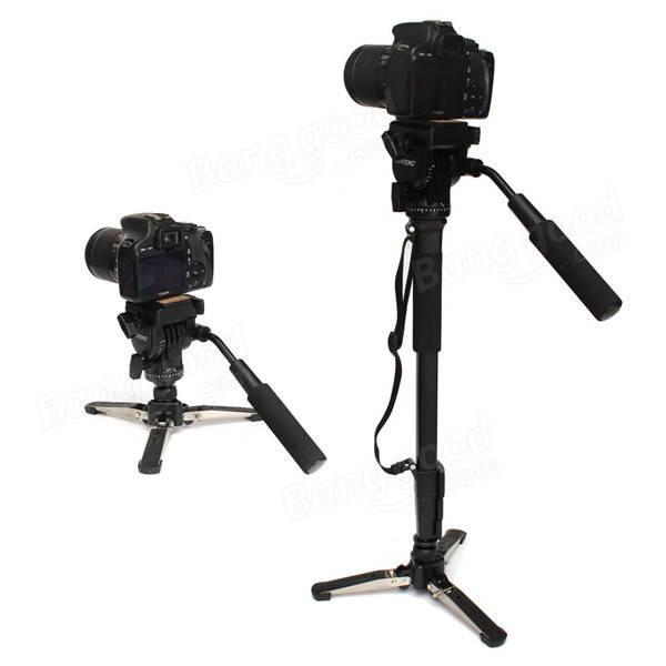 YUNTENG 288 Camera Monopod With Fluid Pan Head Unipod Holder For Canon Nikon DSLR Camera
