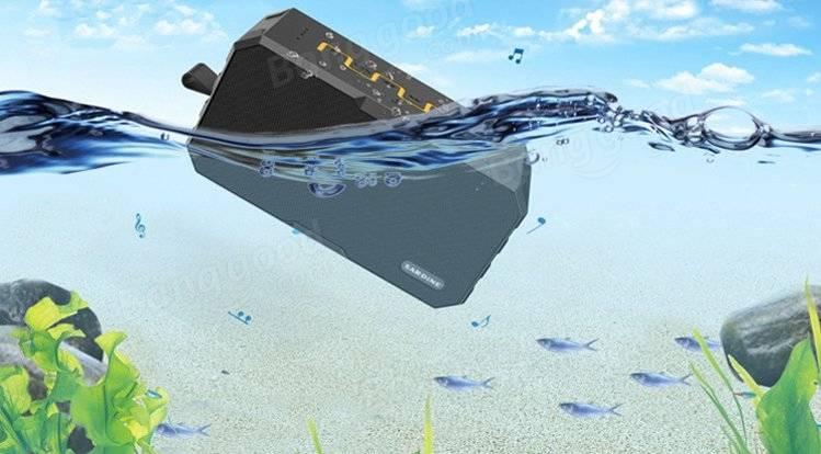 オリジナルSARDINE F5 3 1 2500mAhパワーバンクワイヤレスBluetooth防水IP67スピーカーマイク付き