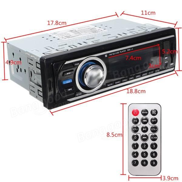 デジタルインダッシュカーステレオヘッドユニットオーディオラジオプレーヤーMP3 FM AUX SD USB WMA