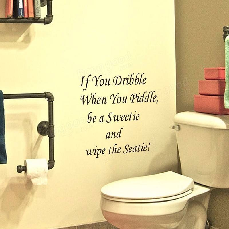 Toilet Seat Cover Sticker Bathroom Wall Decal Home Decor