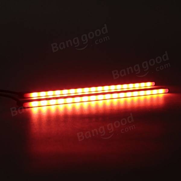 2 x 5630 18 SMD Car Red COB LED DRL Daytime Running Driving Fog Light Waterproof