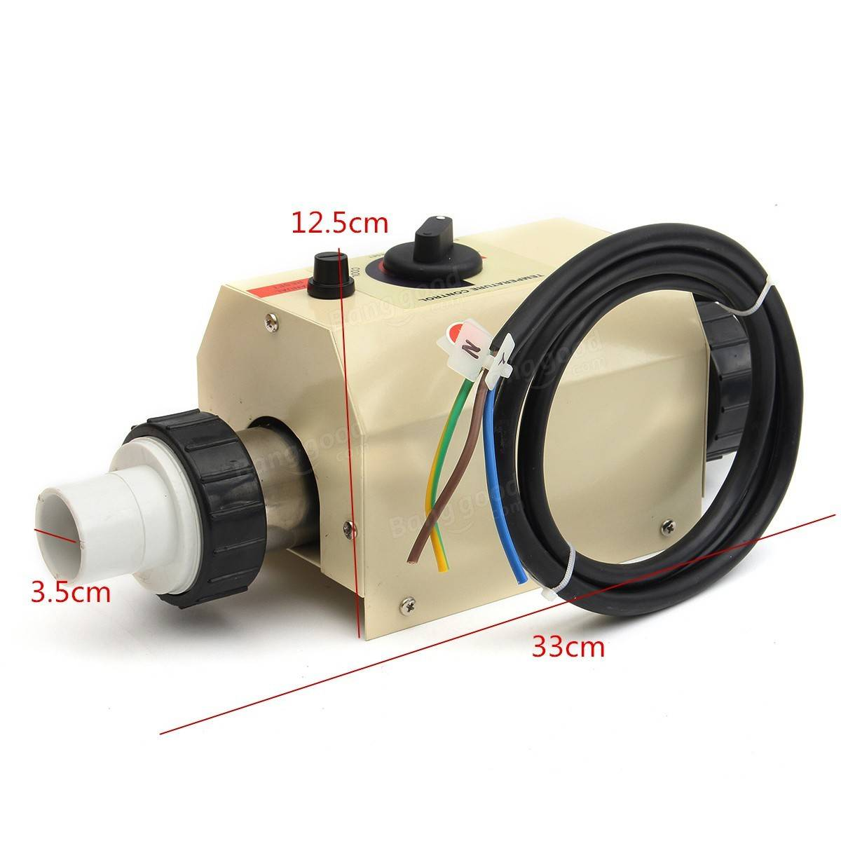 2kw 220v piscine et spa chauffe eau thermostat de for Thermostat piscine