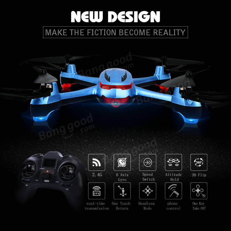 Dowellin Toys X20 720P WIFI FPV With 2MP Wide Angle HD Camera High Hold Mode RC Drone Quadcopter RTF