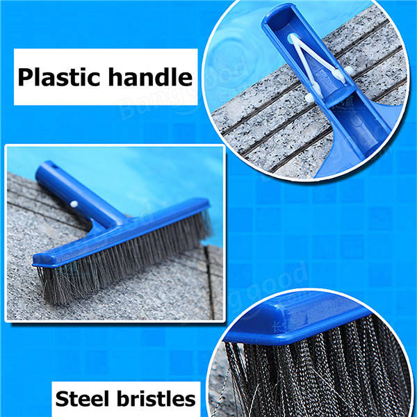 10 Inch Steel Bristles Black Brush Spot Cleaner Swimming Pool Algae Cleaning Brush