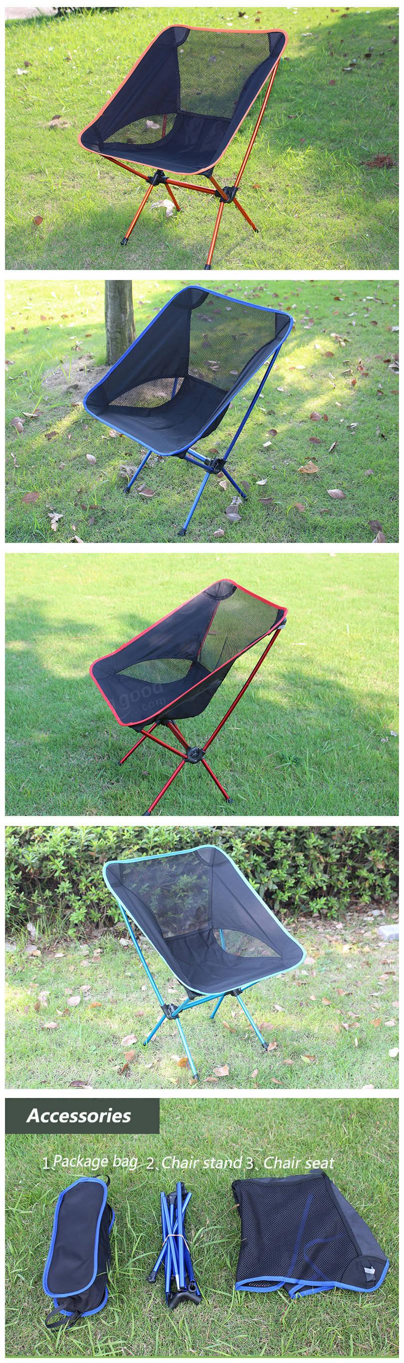 chaise pliante tabouret si ge de camping randonn e plage portable en plein air pour barbecue. Black Bedroom Furniture Sets. Home Design Ideas